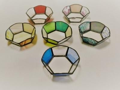 ガラスの小鉢:制作 笠井律子さん