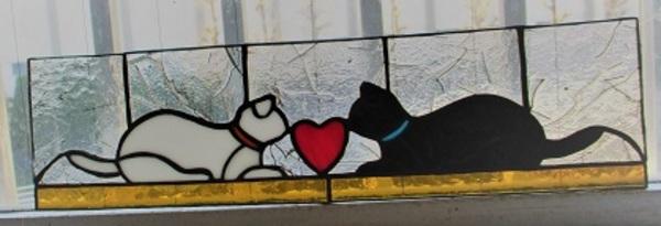 ステンドグラス;内ドアの明りとりと飾り