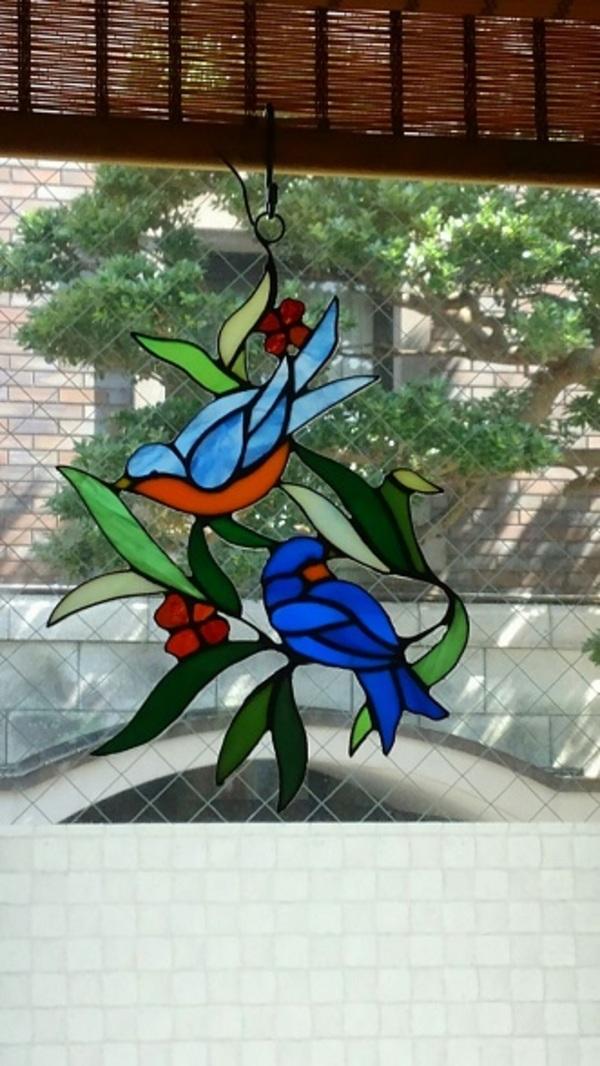2019.3.20. 窓飾り: 青い鳥   :制作 三井美智子 さんのサムネイル