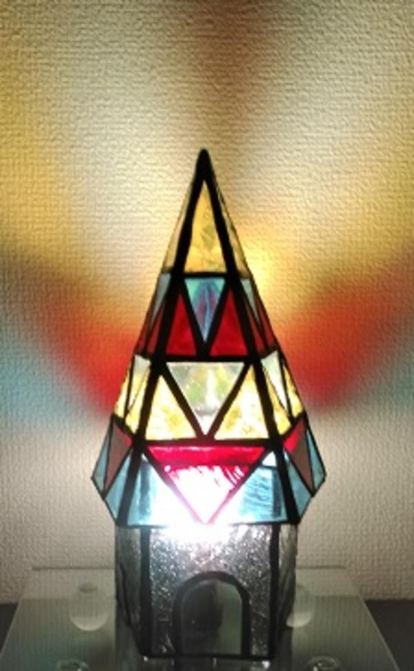 2019.3.24.    五角形ピラミッドと五角筒  :制作 木村州江 さんのサムネイル