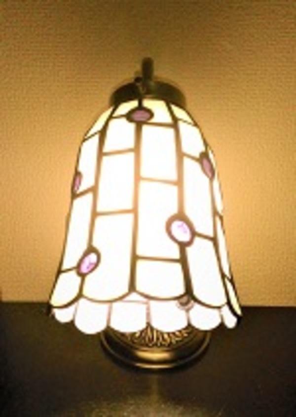 ステンドグラス・グースネックのランプ