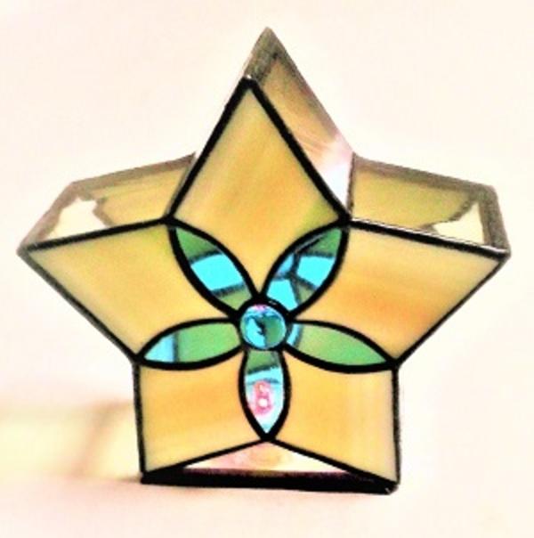五芒星シルエットのLEDランプ