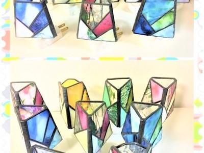 2019.7.12. ステンドグラスのお休みランプ  :制作 笠井律子 さん