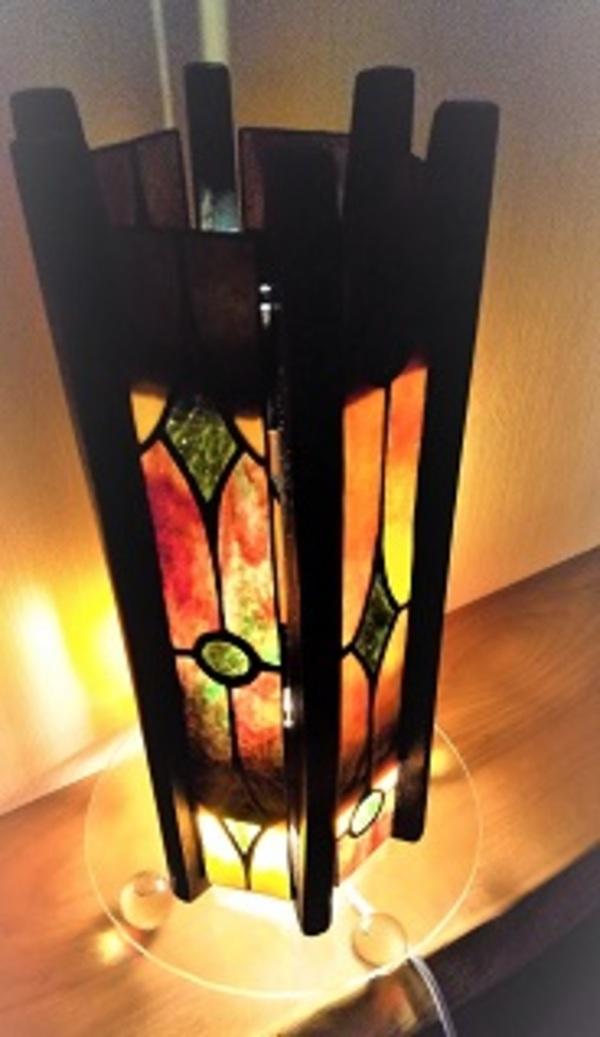 昔の糸巻ランプ