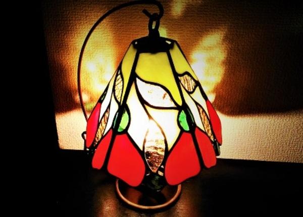 2019.8.8.12. ステンドグラスの吊りランプ(その1)  :制作 望月津多子 さんのサムネイル