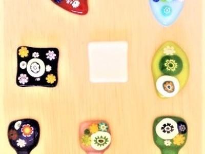 2019.10.14. フュージングの箸置き  :制作 渡辺ひかる さん