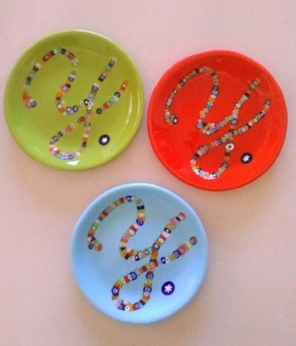 3色のお皿