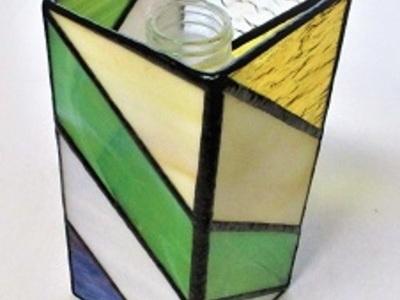 2020.1.29. ステンドグラスの花瓶カバー  :制作 代田千栄子 さん