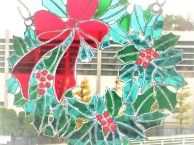 2018.12.22. クリスマスリース  :制作 菊地裕子 さん