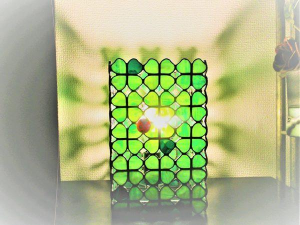2018.8.5. (てんとう虫と四つ葉のクローバー)ランプ  :制作 福永博子 さんのサムネイル