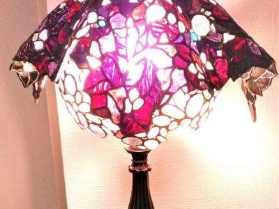 2019.2.13. 紫の饗宴「ギャザースカート風ランプ」 :制作 大久保千聖 さん