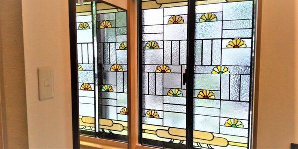 ステンドグラスの窓飾り・完成