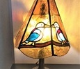 2020.7.24. 小鳥の卓上ランプ  :制作 高畠麻理子