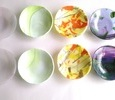 2020.7.26. ステンドのガラスを使ったデザート皿  :制作 三好京子 さん