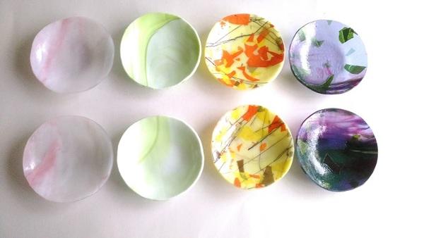 2020.7.26. ステンドのガラスを使ったデザート皿  :制作 三好京子 さんのサムネイル