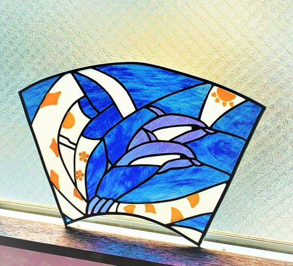 2020.9.5. ステンドグラスのパネル「大涛」  :制作 Kyoko さんのサムネイル