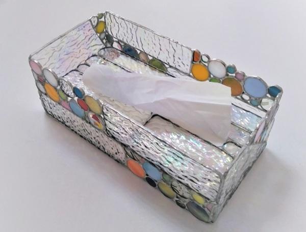 ステンドグラスのテッシュBox