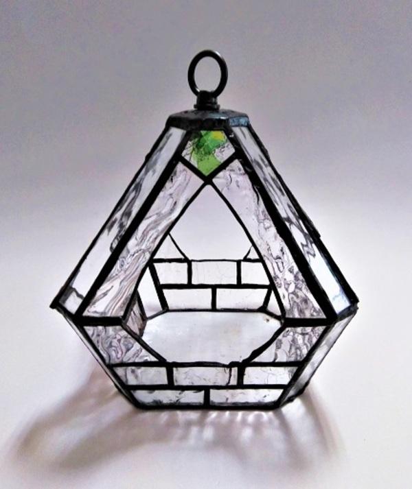 2020.11.3. ステンドグラスの吊りテラリウム  :制作 松山園子 さんのサムネイル