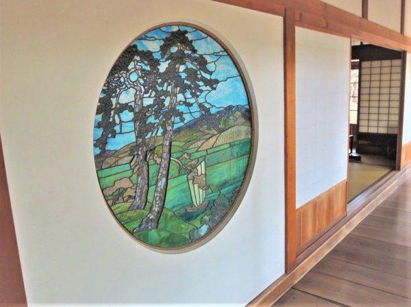 宮越邸の和風ステンドグラス 探訪