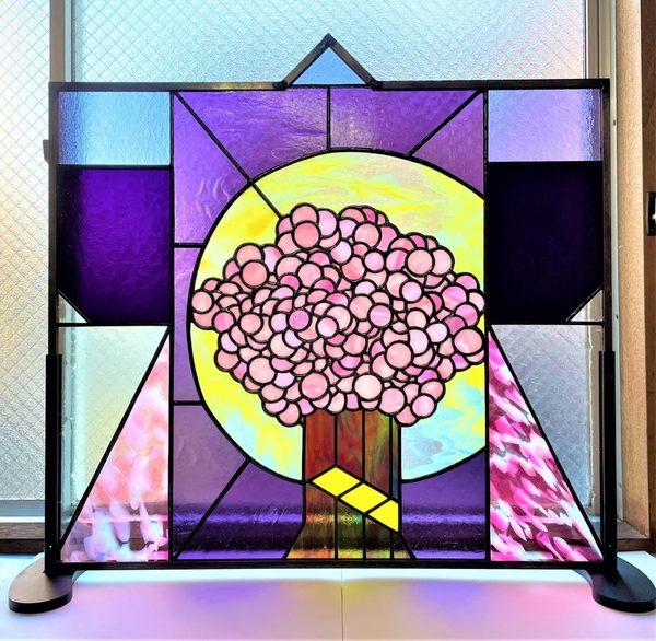 ステンドグラスの着物三部作 その2 「桜」
