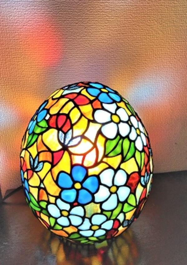 2021.3.7. 卵型のステンドグラスランプ「春」  :制作 Bae   Heyjin さんのサムネイル