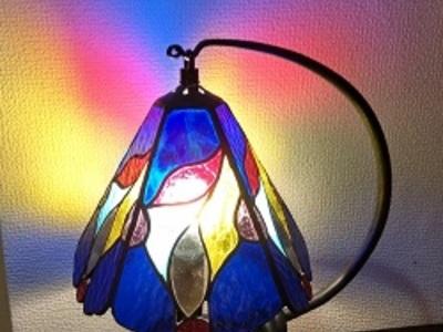 2021.7.22. 5面体の吊りランプ  :制作 神るみ子 さん