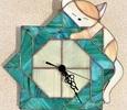 2021.9.21. 子猫と掛け時計  :制作 水川涼子 さん
