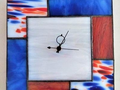2021.10.17. ステンドグラスの掛け時計  :制作 大山理奈 さん